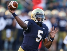 Golson's improvement within the pocket has been sensational and it's pushing Notre Dame to another level