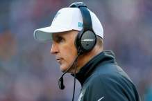 FOXBORO, MA - DECEMBER 14:  Head coach Joe Philbin of the Miami Dolphins looks on during the third quarter against the New England Patriots at Gillette Stadium on December 14, 2014 in Foxboro, Massachusetts.  (Photo by Jim Rogash/Getty Images)