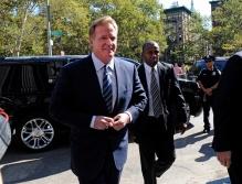 "New England Patriots Quarterback Tom Brady & NFL Commissioner Roger Goodell At ""Deflategate"" Court Conference"